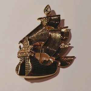 Signed Disney Pirate Ship brooch